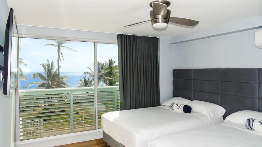 Segunda habitacion auxiliar con Espectacular vista al mar