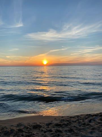 Sunset Cottage ON Lake Michigan! LOCATION!!!