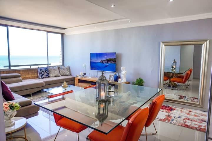 Luxury beach apartment with 180 degrees sea views
