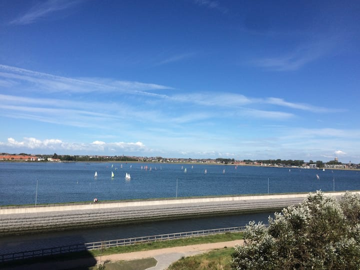 Ostend Appartement watersportview + Prive parking
