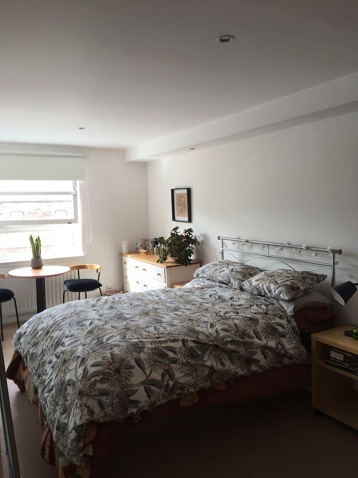 Bright Comfortable bedroom with en suite bathoom
