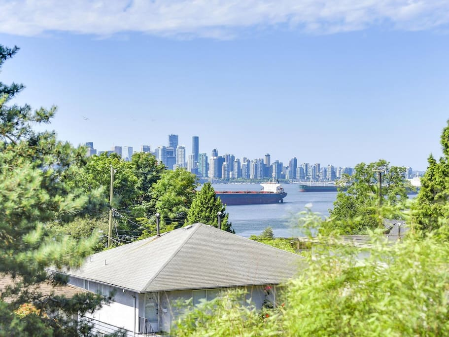 Beautiful ocean and city views on Lower Lonsdale