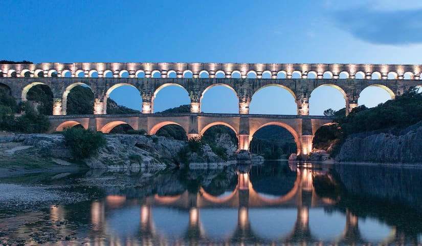villa à deux pas du site du Pont du Gard