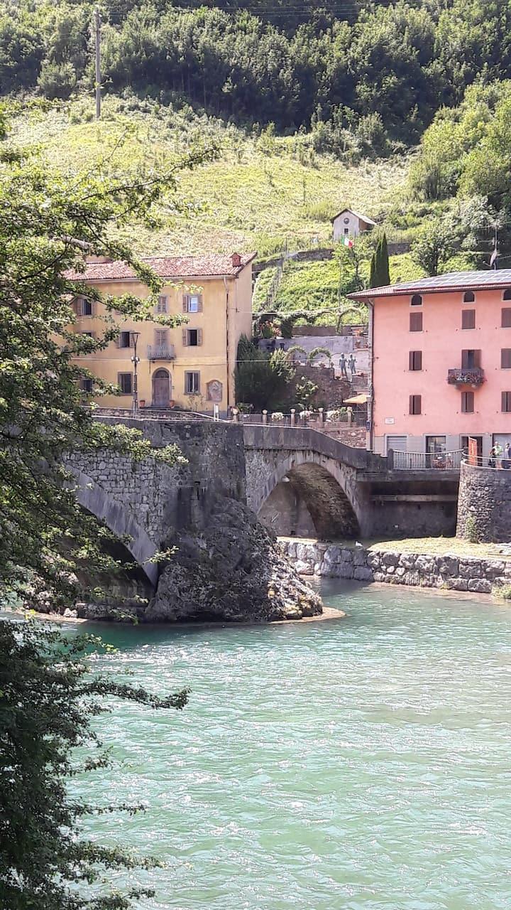 Floden Brembo i San Pellegrino Terme