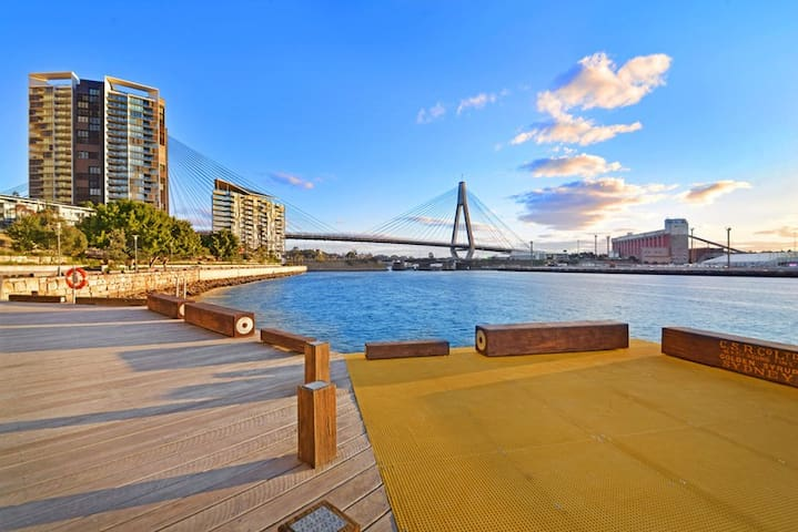 You can see the Anzac bridge from here and walk in the historical part of Sydney where the first phase of European settlement arrived. You will see traces of history when you walk around this path.
