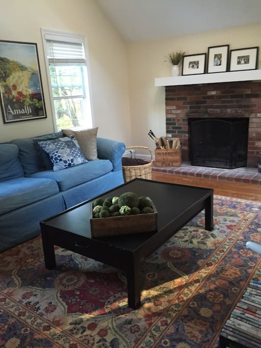 Family room with lots of natural light.