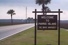 Parris Island Entrance 10 Min Away