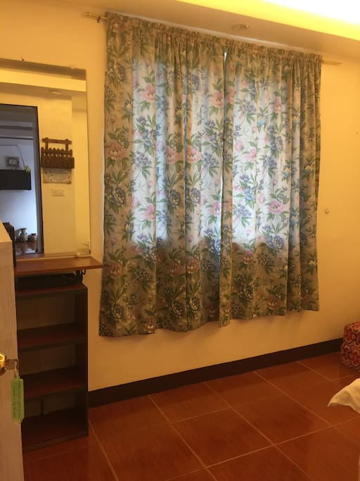 Hill view window located at 2nd floor double bed room