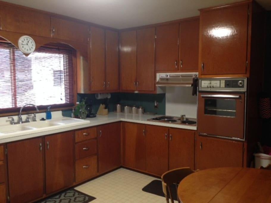 Retro kitchen with all appliances