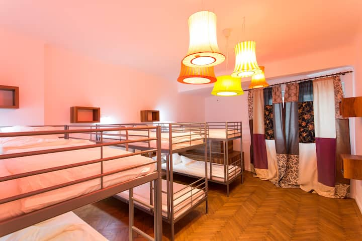 8 Dormitory Bedroom in First Hostel Bucharest