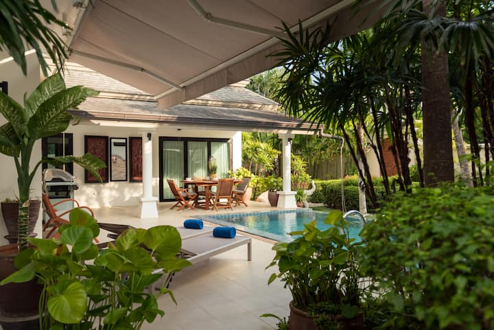 Unique Garden 3br private Pool Villa