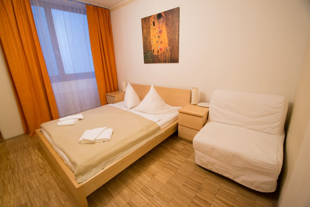 There is enough space for 3 people, we will provide you with bed linen and towels