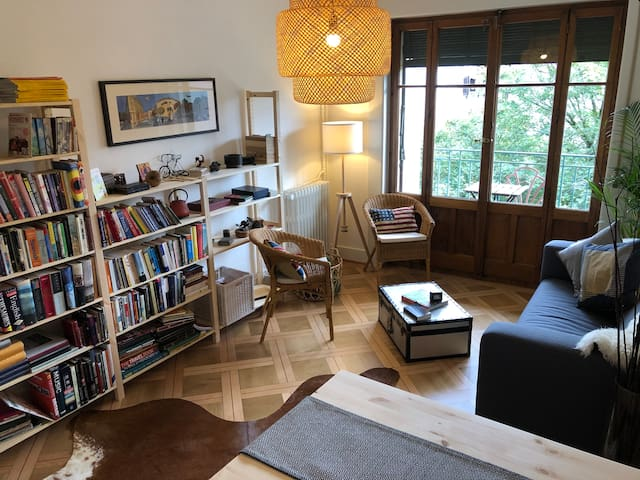 Beautiful light 2 bed apartment in central Geneva