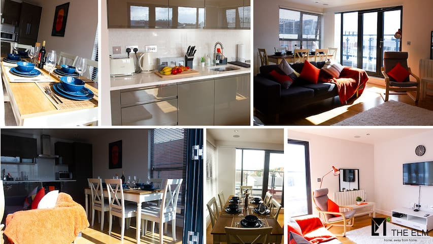 Penthouse, Perfect for upto 5 guests Free Car Park