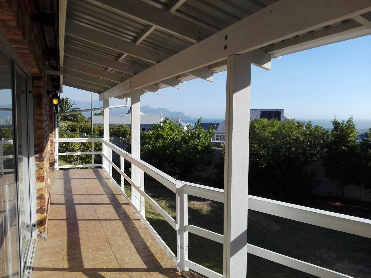 A view over the Hottentots Holland mountains from the patio