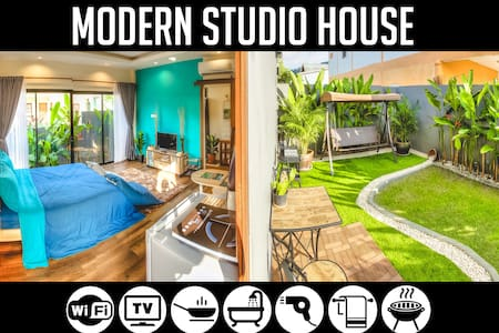 1BR Modern Studio House in Bang-Tao, sleeps 2-3