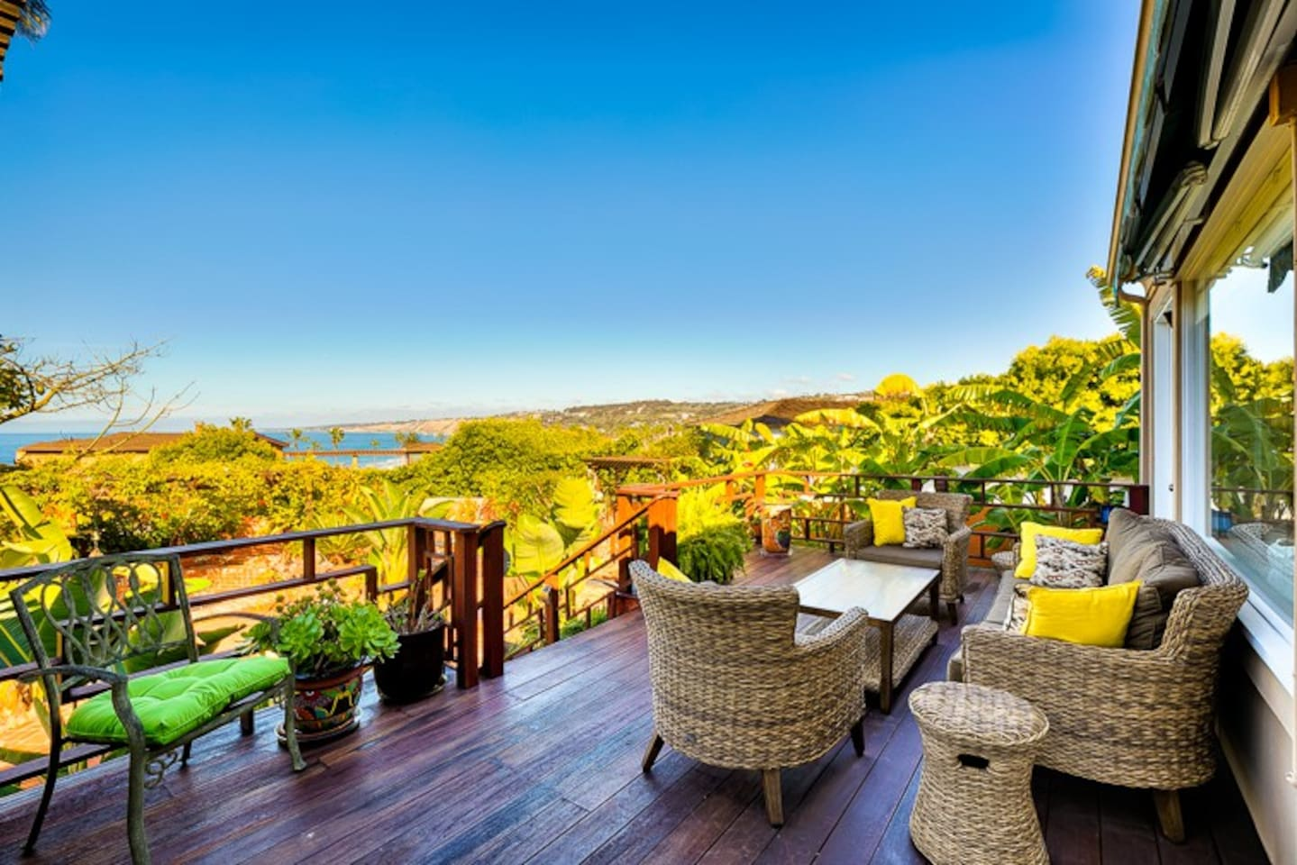 Lounge on the back deck and enjoy the ocean views.
