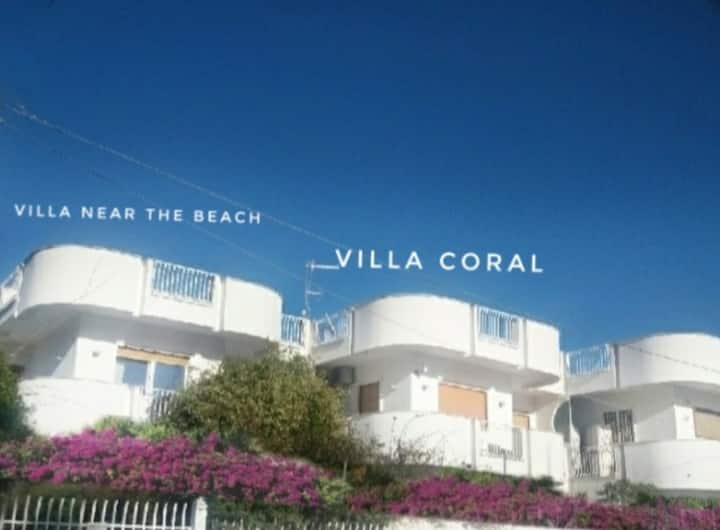 Mondello villa Coral 50 meters from the beach