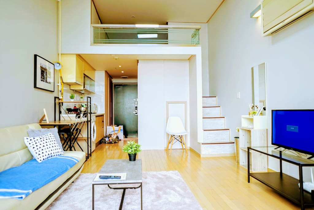 Feel at home in this spacious loft during your stay.