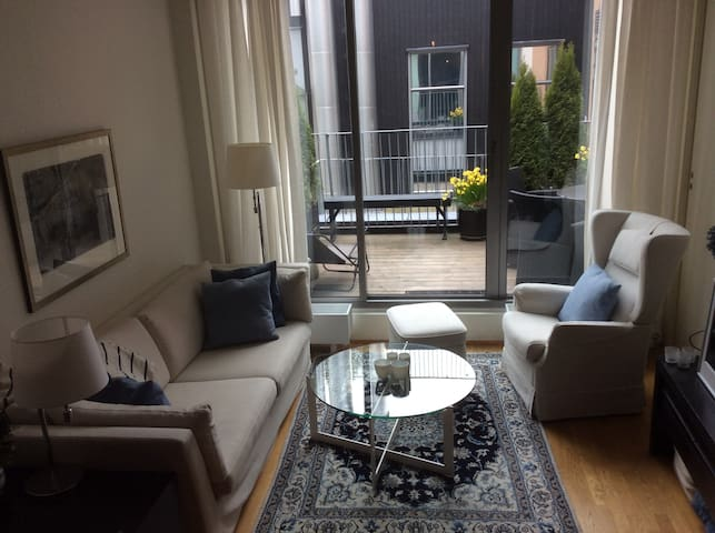 Elegant apartment with balcony, in central Oslo
