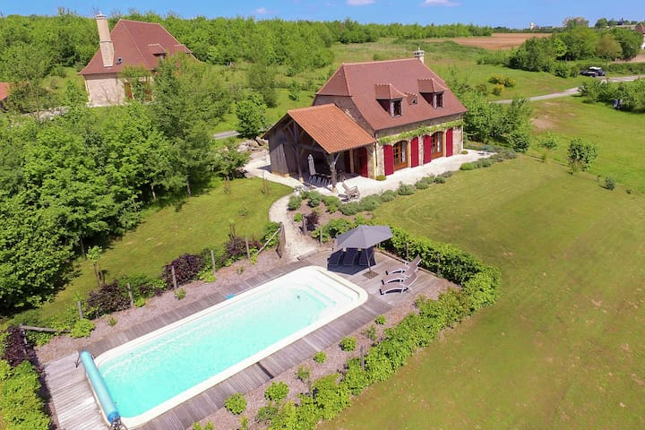 Luxury villa with heated pool and golf course within walking distance.