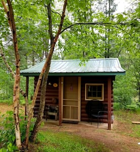 Clean, Cozy CABIN for 2, near hiking, biking