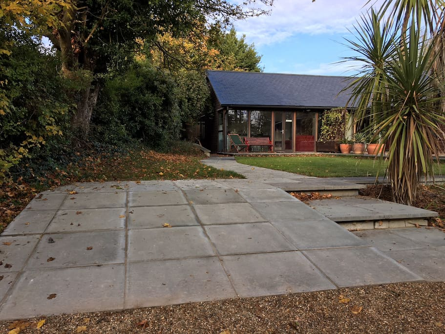 The accommodation is the left-hand half of our house with private wheelchair friendly entrance