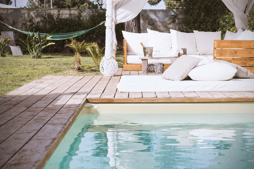 The heated pool will welcome you also if there is cold outside.