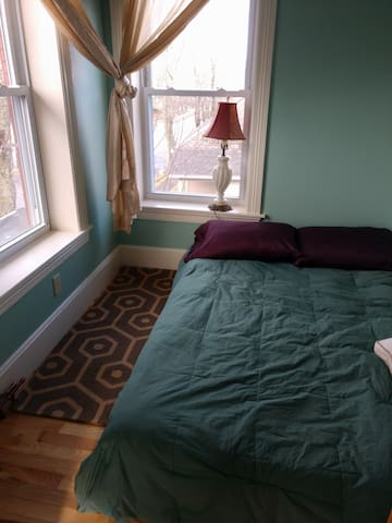 Little front bedroom with cozy full mattress