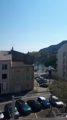 Chambre dans appartement vue sur le Rhône