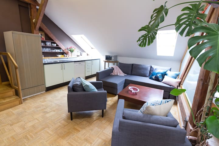 Stylish & spacious apartment in Old Town - Praga - Apartamento