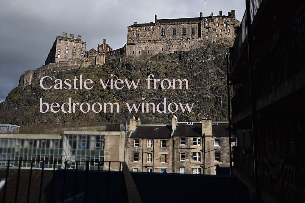 Amazing castle view from the bedroom window