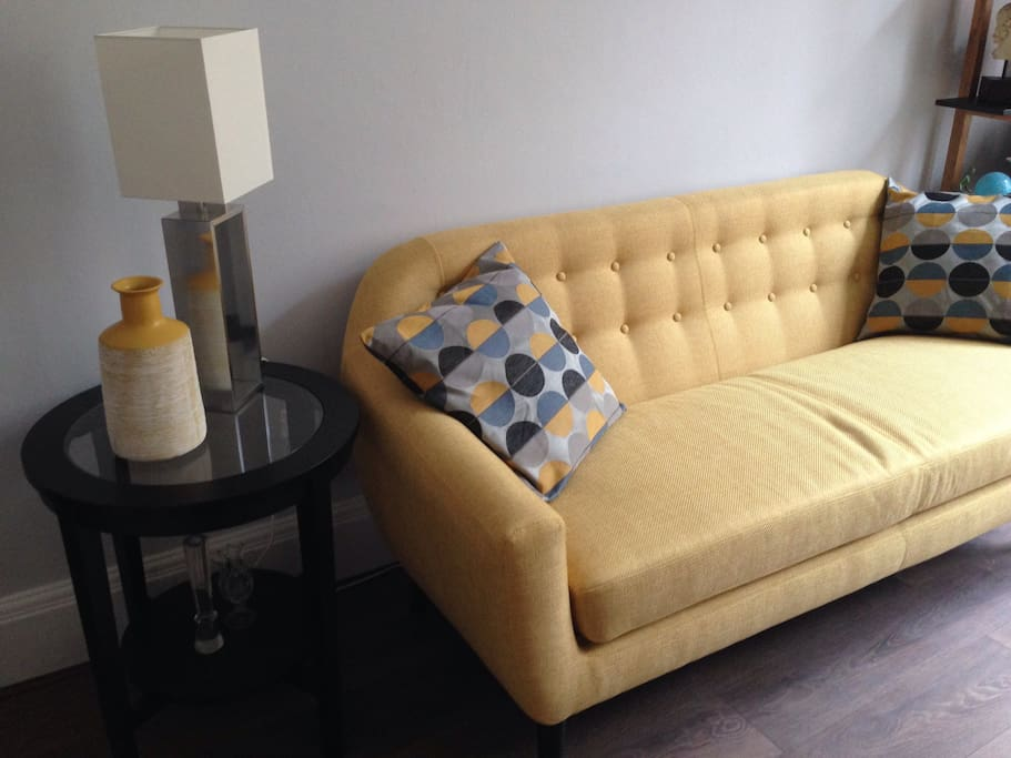 The new sofa in the sitting room