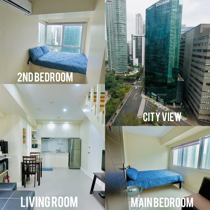 4 Fort Victoria BGC w/ City View, 2BR Max of 10