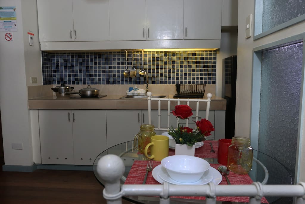 The Living Room and Kitchenette