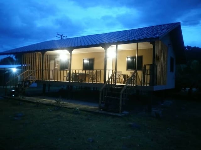 3 private AC rooms with balcony and attached private bathroom overlooking river.