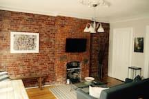 Exposed Brick Brownstone Apt!