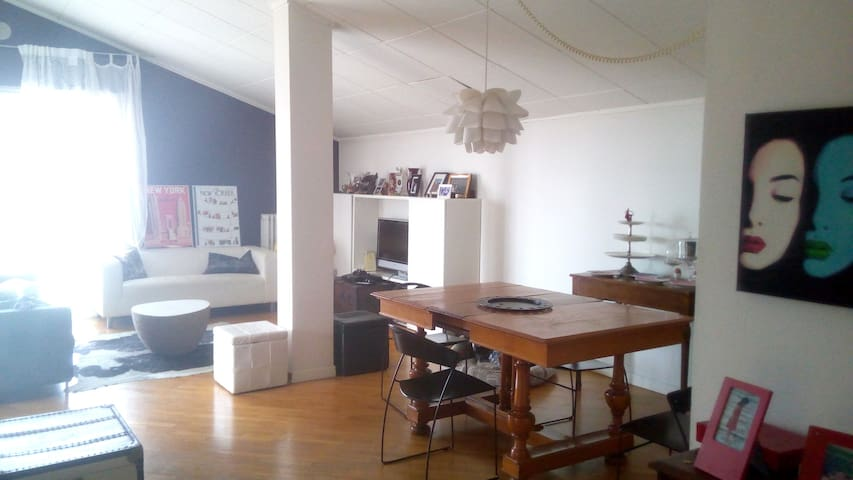 Bright attic with balcony near metro station - Brescia - Huoneisto