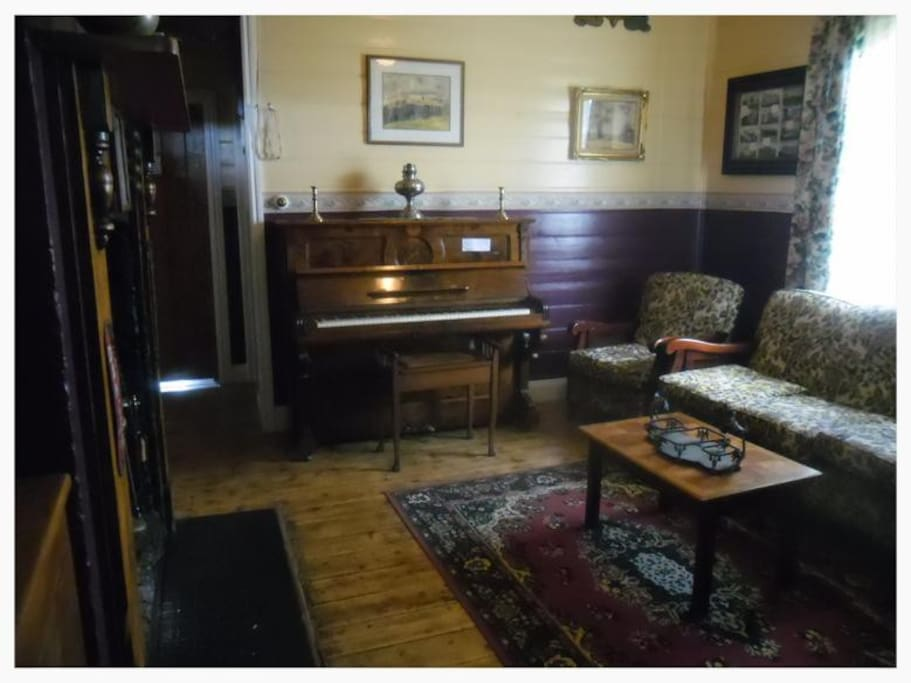 Furnished with olden day antiques, the lounge even has an old piano for guests to utilise.