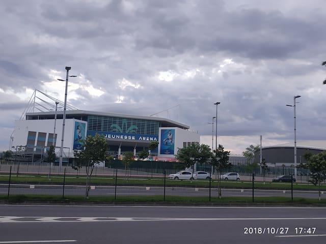 Jeunesse Area, fica a 10 minutos de carro. (Shows e eventos Internacionais e Nacionais)
