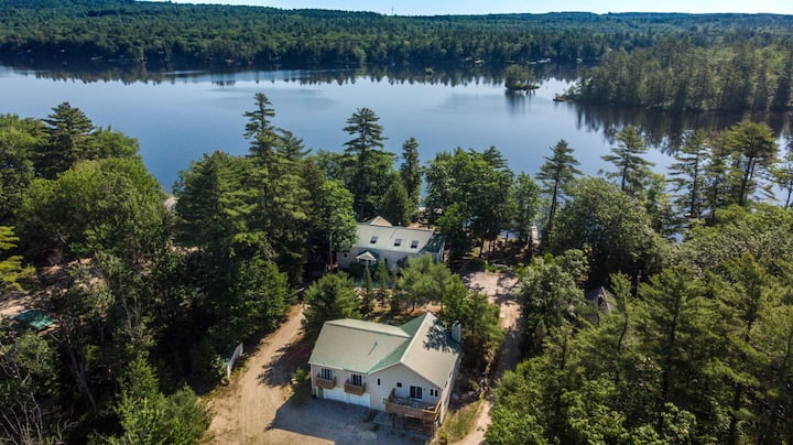 MAINE WATERFRONT + MOUNTAIN COMPOUND • SLEEPS 50!