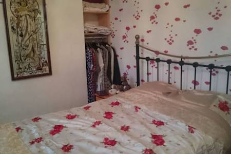 Quiet Double in Edwardian Cottage (dog welcome) - Brighton - House