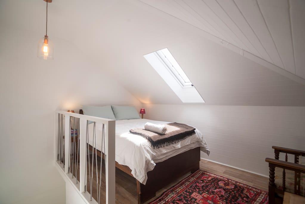 Bedroom upstairs in loft