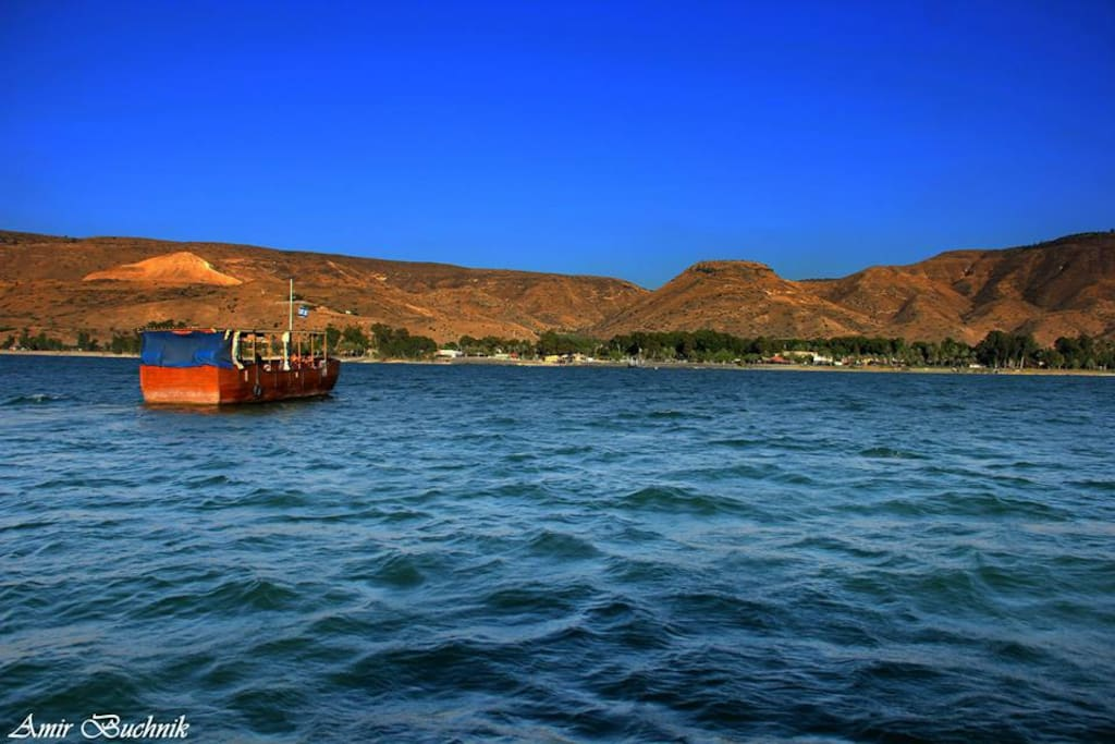 A view of Ein-Gev from the sea of Galilee