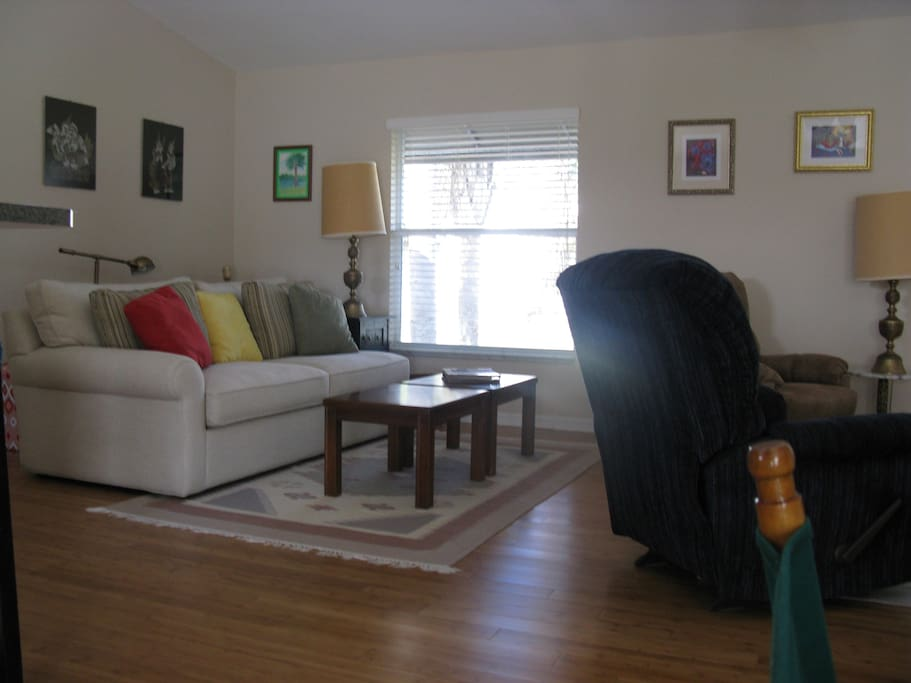 Living Room, Couch and two Recliner chairs.