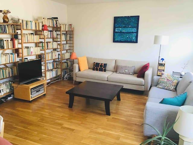 Spacious and sunny apartment near Republique