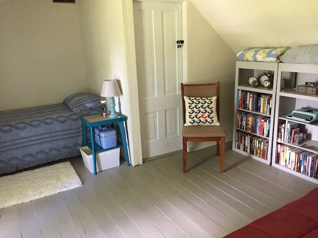Upstairs Far End Single Bedroom with Twin bed and Sofa bed