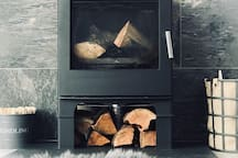 The 'heart of the home'! Stoke up the log burner and sit back and relax. A small quantity of wood and kindling is provided.