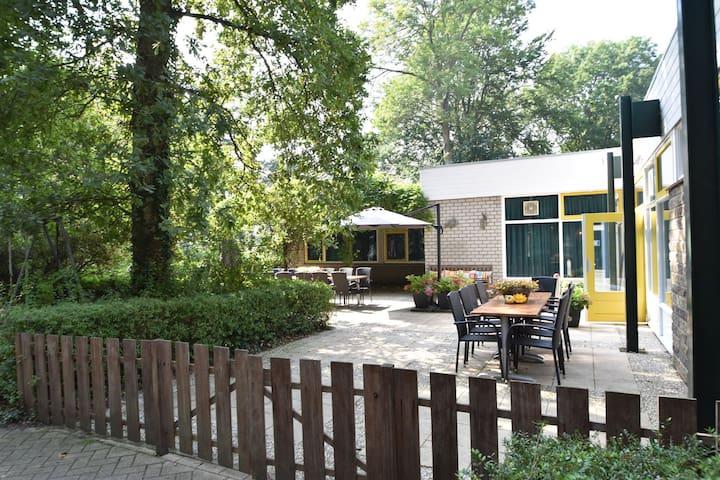 Fantastic, 10-person accommodation in the woods of seaside resort Rockanje