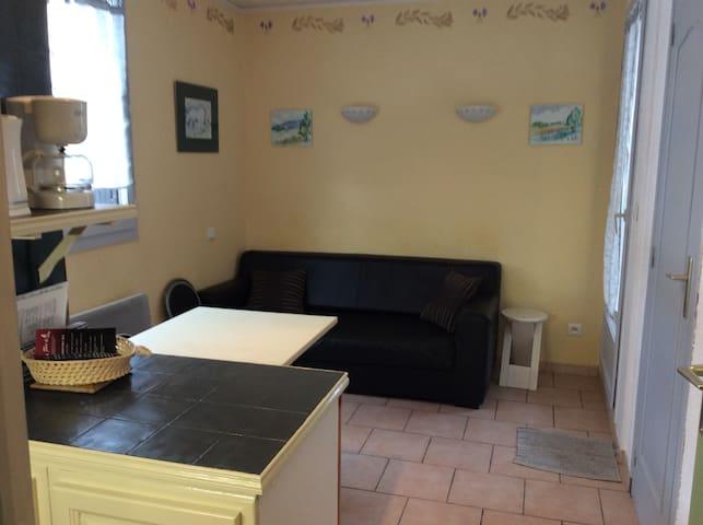 Appartement 1 chambre + cabine RDC exposé SE